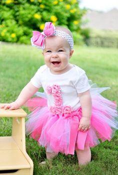 Pink Shabby Chic First Birthday Onesie  on Etsy, $17.50