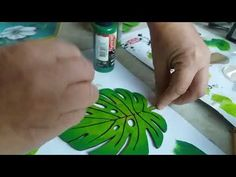 Fake Plants Decor, Plant Decor, Diy Crafts For Home Decor, Handmade Crafts, Painting On Wood, Painting & Drawing, Paper Wall Art, Tropical Art, Art Lessons