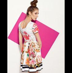 CORAL FLORAL DRESS - projectMESS - Sukienki bombki