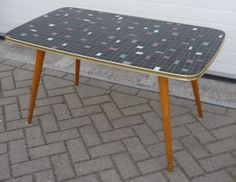 SOLD   1950's glass table large NICE NICE NICE  www.royalcrown.nl