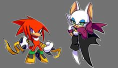 Skyline SONIC Knuckles and rouge