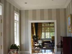 Stripe Walls (our baby room will have two walls that are vertically striped mustard yellow & warm chocolate brown)