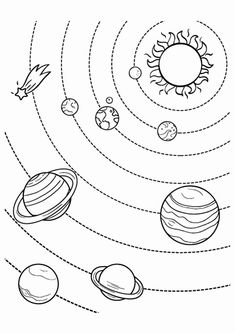 We have fantastic solar system coloring pages to help kids learn about the planets. I've scoured the internet to find the best solar system coloring pages. Solar System Worksheets, Solar System Activities, Solar System For Kids, Solar System Projects, Solar System Planets, Space Activities, Solar System Images, Solar System Art, Planetary System