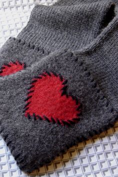 Knitted scarf, felted pockets - maddy laine Knitting Patterns