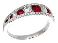 Check out this stunning GREGG RUTH Classic Color Collection Ruby & White Diamond Ring!!