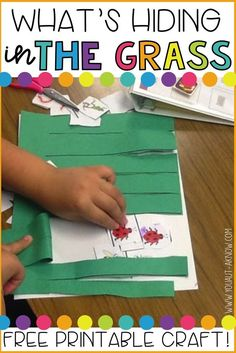 This fun, fine motor activity is a great spring time craft for any classroom. Grab a free printable here! Rainforest Activities, Insect Activities, Cutting Activities, Fine Motor Activities For Kids, Spring Activities, Language Activities, Kindergarten Activities, Preschool Activities, Kindergarten Classroom