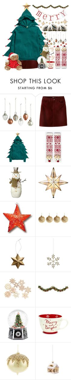 """Merry Chirstmas!"" by doga1 ❤ liked on Polyvore featuring prAna, H&M, Oysho, GE, National Tree Company, Shishi, Improvements, Spode, Amara and Christmas"