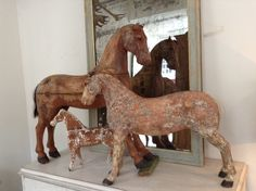 Antique carved Swedish Horses
