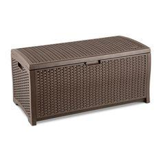 Resin Wicker Deck Storage Boxes