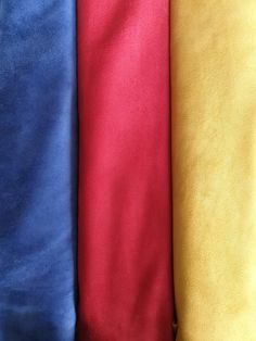 Beautiful colors of suede leather!