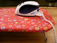 How to make a new ironing board cover.  Step by step instructions.