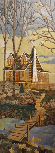 Mountain House Stone Mosaic ~ by Mozaico