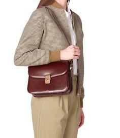 Grace bag - Smooth leather - A. Paris Logo, White Shirt Men, Denim Handbags, Shoulder Strap Bag, Brass Buckle, Casual Bags, Apc, Cowhide Leather