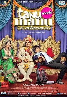 Kangana Ranaut, R. Madhavan, Jimmy Shergill New Upcoming movie Tanu Weds Manu Returns release 2015 Poster