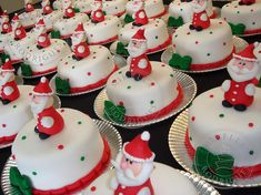 mini christmas cakes - Google Search