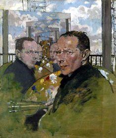 William Orpen (1878-1931) Self Portrait, Multiple Mirrors 1924