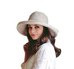 435fec400a2 Home Prefer Women s Cotton Essential Summer Hat Fold Up Wide Brim Sun  Bucket Hat Fishing Hat Beach Sun Hat with Stripes Beige