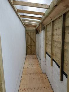 Timber framed lean to sheds Cabinteely, with polycarbonate sheeted roof and damp proof floors. Built to measure available space, closed in, with external gutters. Lean To Roof, Lean To Shed, Garden Sheds For Sale, Patio Design, House Design, Outdoor Buildings, Bike Shed, House Siding, Shed Storage