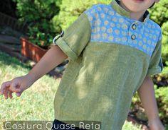 Costura - camisa de menino Easy linen shirt  - my way