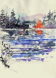 watercolor 45317011