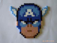 Captain America by perles-hama on deviantart