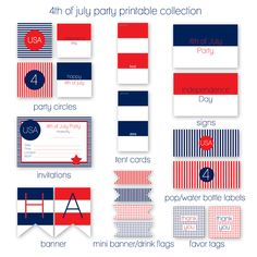 4th of July Party Printables Instant Download | KristiMurphy.com