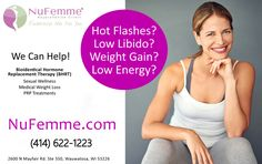 Learn More about Bio-identical Hormone Replacement Therapy (BHRT). 📱 (414) 622-1223 . http://www.nufemme.com/medical-services/bio-identical-hormone-replacement-therapy.html