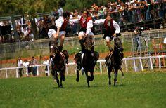 ++Cavalcata Sarda++ (Third Sunday of May - Sassari, Sardinia)  A folkloric event dating back to 1899, featuring a parade in traditional Sardinian costume, floats and horses. At the end of the procession, the 'cavalry' side takes over, with spectacular horse-riding feats and races. Cavalcata Sarda (Terza Domenica di Maggio - Sassari, Sardegna) La Cavalcata Sarda è la più importante sfilata storica di carattere laico della Sardegna. Da tutti i paesi della Sardegna partono alla volta di…
