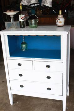 Wine Rack Out Of Dresser I Would Get Rid Drawers And Put In