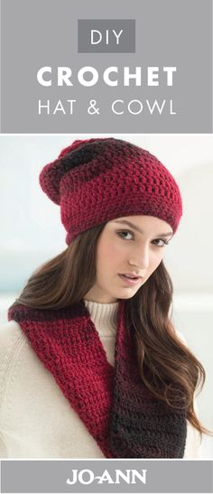 This DIY Crochet Hat and Cowl is a great project to tackle this winter—plus it makes a wonderful style accessory for the season. Use rich colored yarn to give this fashion statement a cozy feel.