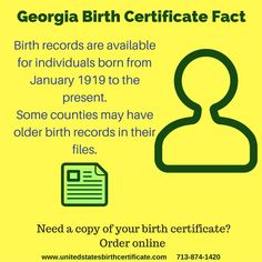 Born in ohio and need a copy of your birth certificate fast we did you know this about georgia birth certificates need a replacement order online now yadclub Choice Image