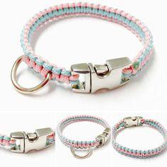 Paracord Bracelet Designs, Bracelets Design, Paracord Bracelets, Diy Dog Collar, Cat Collars, Fancy Dog Collars, Paracord Collar, Colar Diy, Collar Macrame