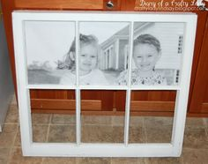 window picture frame tutorial