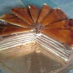 Tort Dobos reteta originala | Savori Urbane Food Cakes, Lidl, Waffles, Cake Recipes, Traditional, Breakfast, Romania, Cakes, Morning Coffee