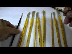 Dicas de Pinceis - #Iniciantes - Pintura em Tecido - YouTube                                                                                                                                                                                 Más
