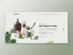 Markhor Beauty Shop designed by Asif. Connect with them on Dribbble; the global community for designers and creative professionals. Website Design Layout, Website Design Inspiration, Web Layout, Layout Design, Website Designs, Cosmetic Web, Cosmetic Design, Shop Banner Design, Graphisches Design