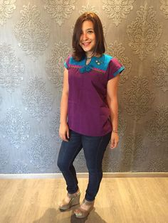 Mexican blouse top embroidered traditional muslin cinco de mayo day of the dead… Mexican Top, Mexican Blouse, Mexican Party, Boho Fashion, Fashion Tips, Hallows Eve, Boho Style, Traditional, Clothes For Women