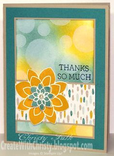 Stampin' Up! Crazy About You Card - Bokeh Technique - Create With Christy - Christy Fulk, Stampin' Up! Demo