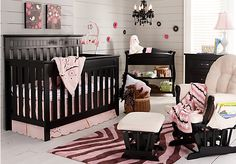 Zaria 4 Pc Black Nursery is part of Baby girl nursery room - Zaria 4 Pc Black Nursery BlackNursery Furniture Dark Nursery, Nursery Room, Nursery Ideas, Nursery Decor, Bedroom Ideas, Girl Cribs, Baby Cribs, Baby Bedroom, Baby Boy Rooms