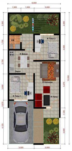 Desain Perumahan Minimalis Perumahan Graha Purwosari Regency - Type 45 Denah #shedplans