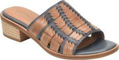 5d78e1658d8 Comfortiva Leather Huarache Slide Sandals - Brileigh