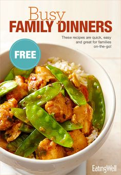 Healthy General Tso's Chicken, Quinoa Veggie Burgers, Half-Hour Chili and 25 more recipes for Quick Healthy Dinners
