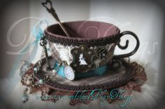 Alice Inspired Tea Cup Hat  SOLD, this would becool as affor real teacup