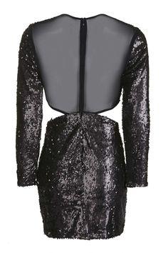 Flower Sequin Bodycon Dress - Topshop