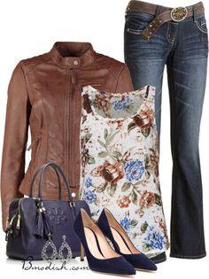 Vestir con un top con Flores - Outfits 9