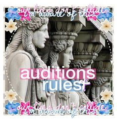 """""""→ auditions & rules / amanda"""" by the-poly-battles ❤ liked on Polyvore featuring art, kaitlinicons and polyaudish"""