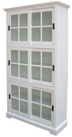 Norwegian vitriinikaappi liukuovilla | Uuttakotiin.fi China Cabinet, Bookcase, Shelves, Lights, Storage, Norway, Inspiration, Furniture, Design