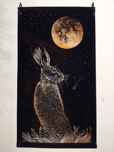'Blood Moon Hare' by stained glass artist Tamsin Abbott
