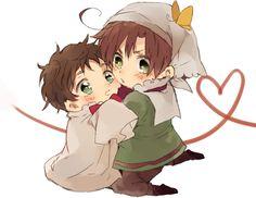 little Romano & little Spain | Hetalia | ♤ Anime ♤