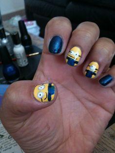 minions nail art tutorial